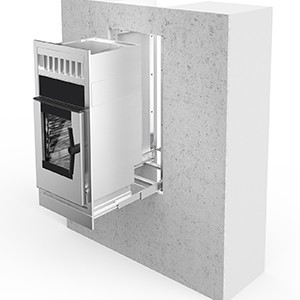 Ausziehbares Set für Einbauöfen mit integrierter Dunstabzugshaube Modelle 061