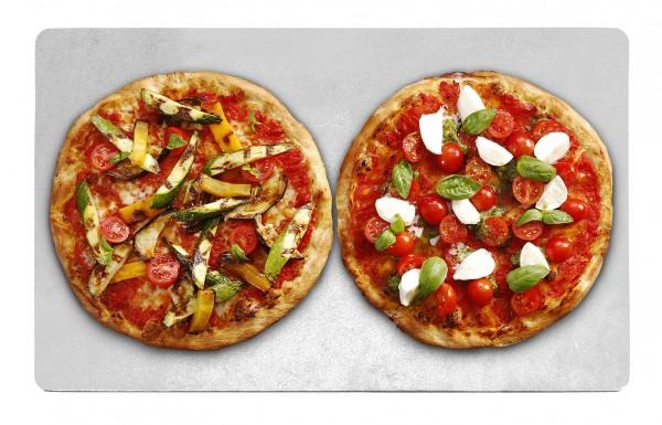 PIZZA GRILL Blech zur Wärmespeicherung Alu 600 x 400