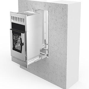 Ausziehbares Set für Einbauöfen mit integrierter Dunstabzugshaube Modelle 026