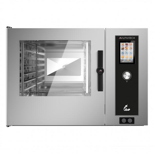 LEO Kombidämpfer Gas mit Boiler+elektromechanischer Steuerung 14 x 1/1 GN