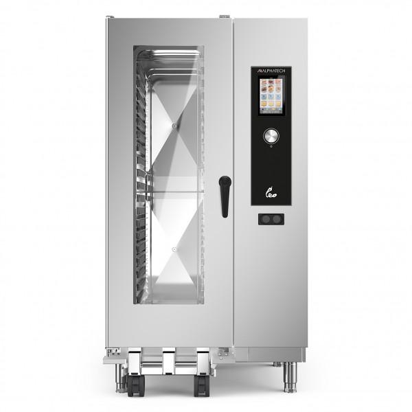 LEO Kombidämpfer Gas mit Boiler+Touchsteuerung 20 x 1/1 GN