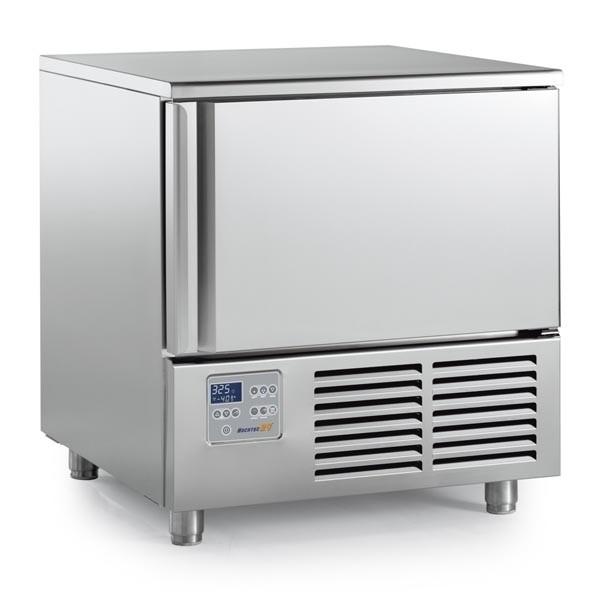 NEW CHILL Schnellkühler Schockfroster 5 x 1/1 mit Kerntemperaturfühler 1,4 kW mit Arbeitsplatte